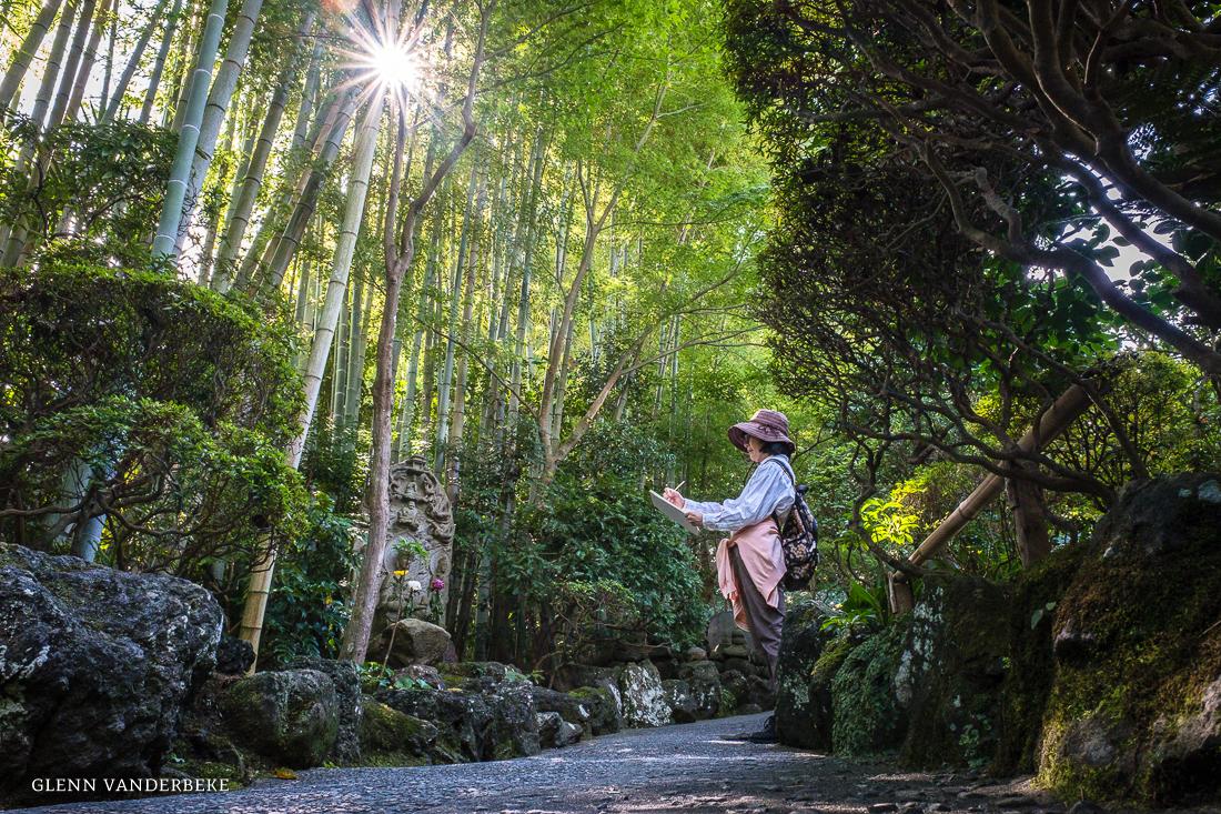 glenn vanderbeke, landschapsfotograaf, reisfotograaf, reisfotografie, japan, Kamakura, bamboo temple, bamboo forest