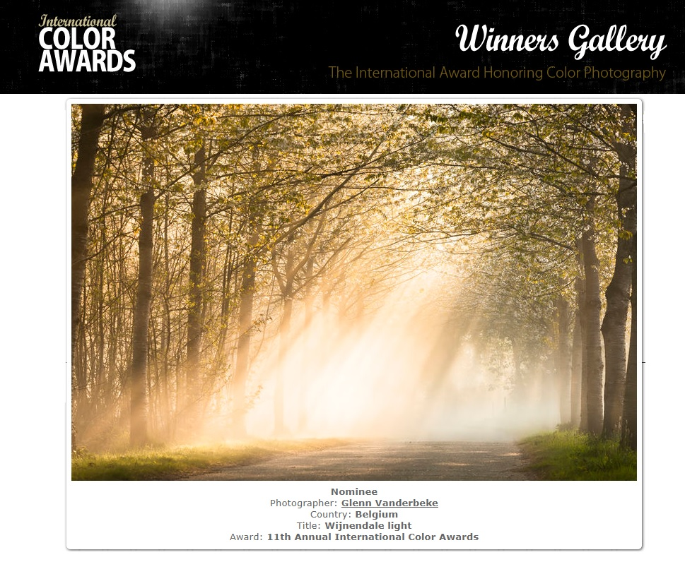 glenn vanderbeke, landschapsfotografie, landschapsfotograaf, foto uitstap, foto dagtrip, fotografische dagtrip, west-vlaamse fotografen, west-vlaamse fotograaf, Wijnendale, Torhout, International Color Awards 2018, International Color Awards