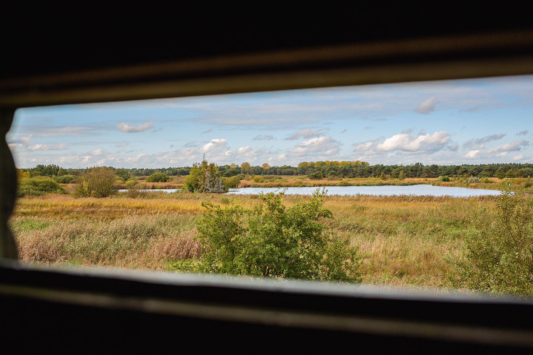 Zicht uit uitkijktoren in het Hageven in Pelt (Neerpelt), West-Vlaamse landschapsfotograaf Glenn Vanderbeke