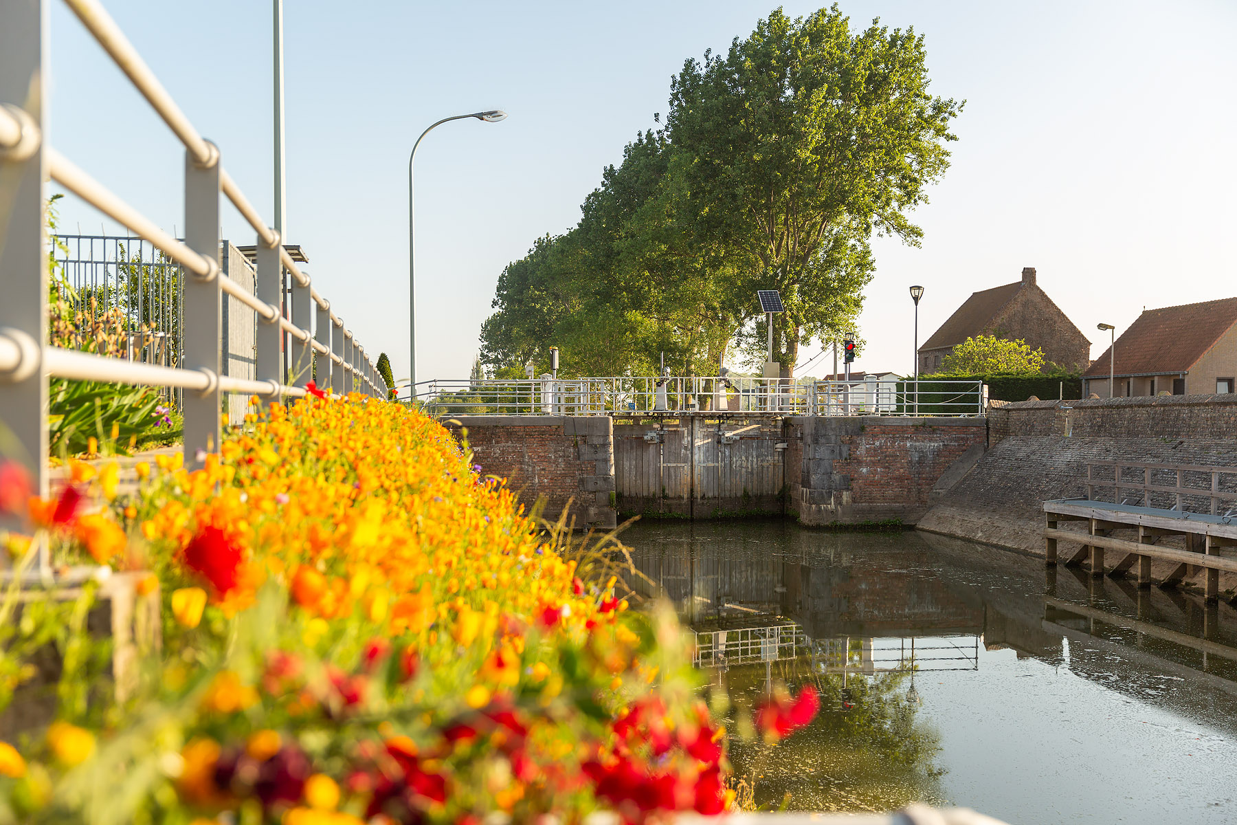 Het prachtige landschap rondom Fintele, Landschapsfotografie in Fintele, Fintele, De Fintelesluis in Fintele, België, Glenn Vanderbeke