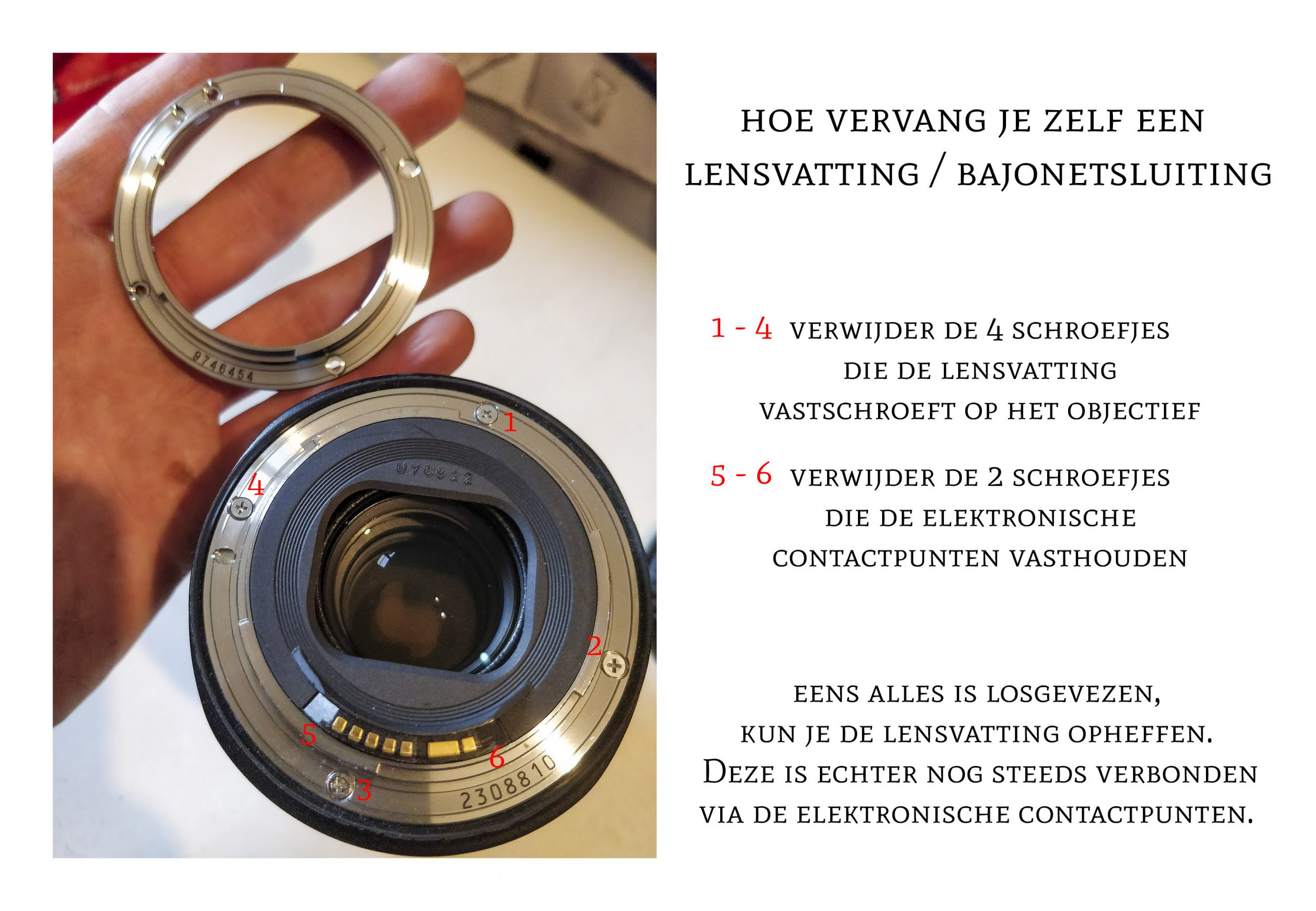 Lens bayonet vatting voor de Canon EF 24-105mm F4L IS USM, Lens Bayonet mount for canon EF 24-105mm F4L IS USM